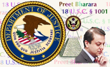 Preet Bharara provides Deutsche Bank executives the 'favor' of ignore Title 18 � 1001 crimes