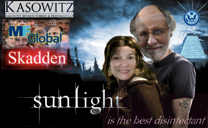 MF Global is the Jon Corzine organized crime financial fraud with the assistance of Skadden Arps and Kasowitz Benson